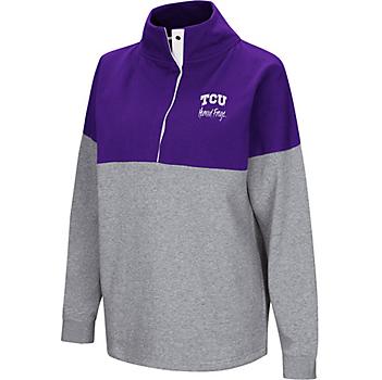 TCU Horned Frogs Colosseum Womens Breakthrough Snap Pullover