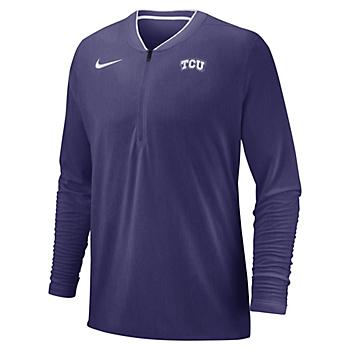 TCU Horned Frogs Nike Quarter Zip Coaches Top