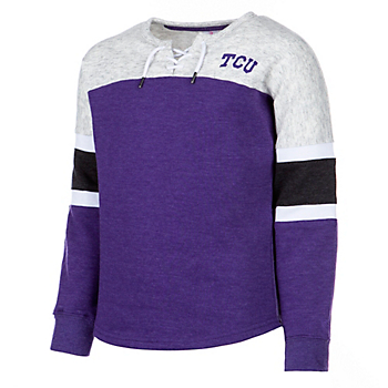 TCU Horned Frogs Colosseum Girls Ice Box Oversized Pullover