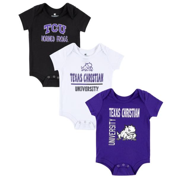 TCU Horned Frogs Colosseum Infant Boys Ahhhh! 3-Pack Onesie