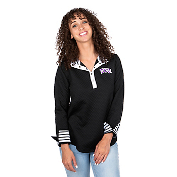 TCU Horned Frogs Out of Your League Quarter Button Jacket