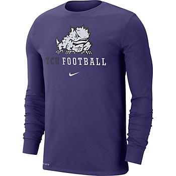 TCU Horned Frogs Nike Icon Wordmark Long Sleeve T-Shirt
