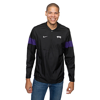 TCU Horned Frogs Nike Coaches 1/4 Zip Pullover