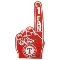 Texas Rangers Foam Finger