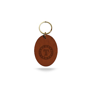 Texas Rangers Leather Key Fob