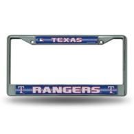 Texas Rangers Bling Chrome License Plate Frame