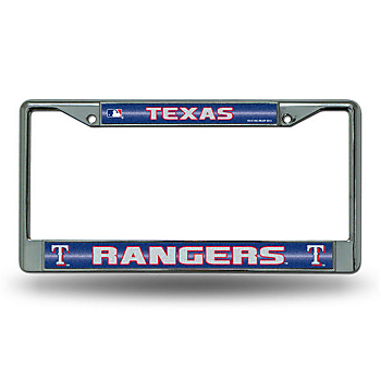 Texas Rangers Bling Chrome License Plate Frame