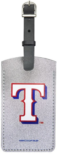Texas Rangers Sparkle Bag Tag