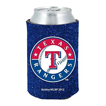 Texas Rangers Glitter Can Coolie