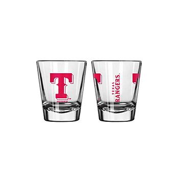 Texas Rangers 2 oz Gameday Shot Glass