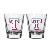 Texas Rangers 2 oz Satin Etch Shot Glass