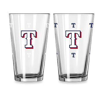 Texas Rangers 16 oz Color Change Pint