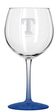Texas Rangers 20 oz Balloon Wine Glass