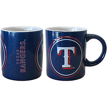 Texas Rangers Sublimated Warm Up Mug