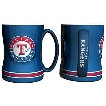 Texas Rangers Sculpted Relief Mug