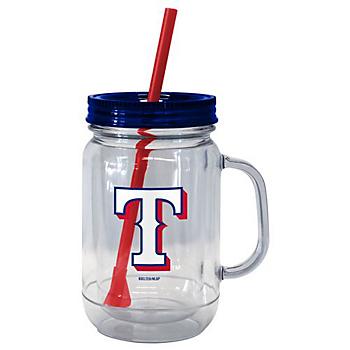 Texas Rangers Handled Straw Tumbler