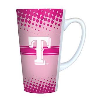 Texas Rangers Pink Latte Mug