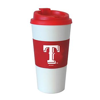 Texas Rangers 16 oz Red Travel Tumbler