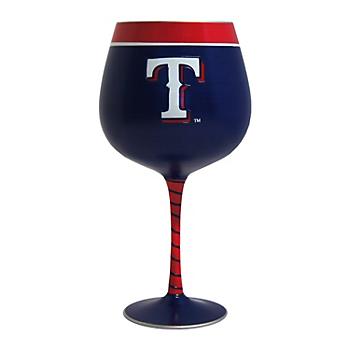 Texas Rangers 33oz Artisan Wine Glass