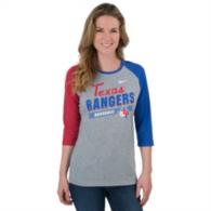 Texas Rangers Nike Womens Triblend 3/4 Sleeve Raglan Tee