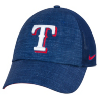 Texas Rangers Nike Heritage 86 Dri-Fit Fabric Mix Adjustable Cap