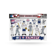 Texas Rangers Small Family Sticker Sheet
