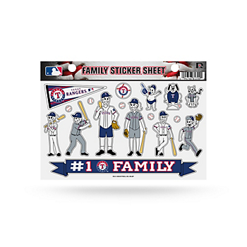 Texas Rangers Small Family Sticker Sheet