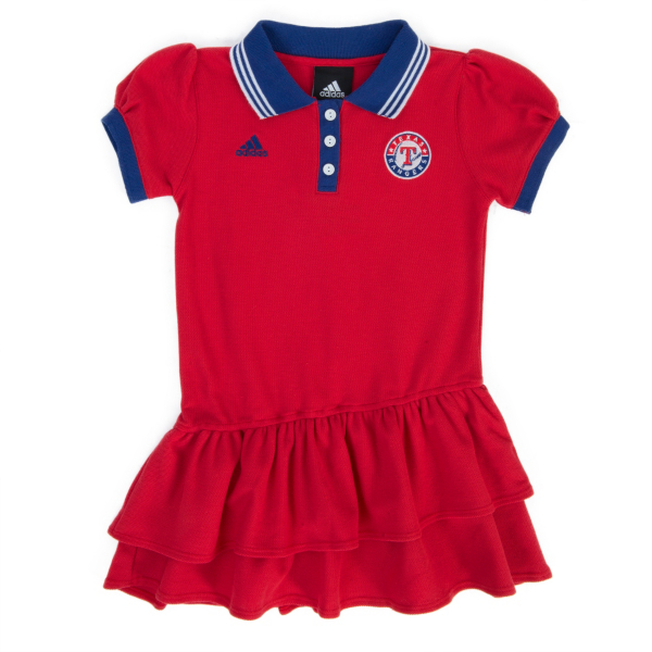 Texas Rangers Adidas Girls Polo Dress