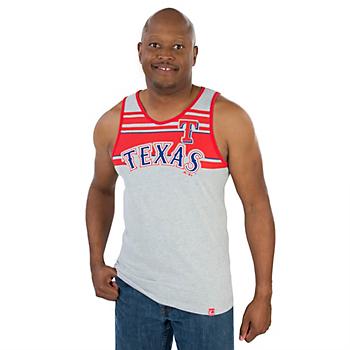 Texas Rangers Majestic Sweeping Series Tank