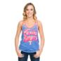 Texas Rangers Ladies Burnout Wash Jersey Racerback Tank