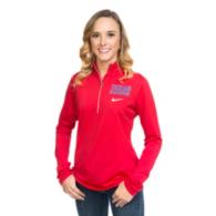 Texas Rangers Nike Womens Element Half-Zip Pullover