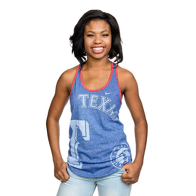Texas Rangers Nike Womens Raglan Tank