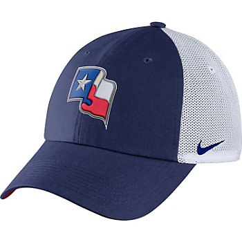 Texas Rangers Nike Heritage 86 Fabric Mix Cap