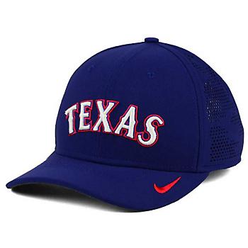 Texas Rangers Nike Dri-FIT Fabmix Swooshflex Cap