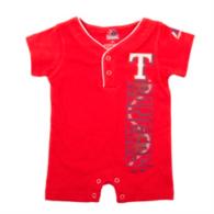 Texas Rangers Majestic Newborn Baseball Romper