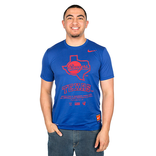 Texas Rangers Nike Legend Gym Issue Short Sleeve Tee