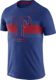 Texas Rangers Nike Dri-Blend Local Stripes Tee