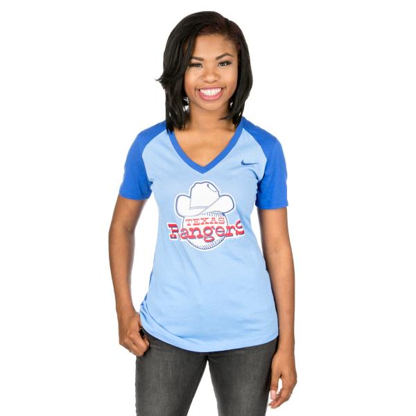 Texas Rangers Nike Women's Cooperstown Fan Tee