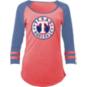 Texas Rangers 5th & Ocean Ladies Triblend 3/4 Sleeve Tee