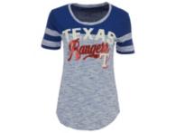 Texas Rangers 5th & Ocean Ladies Space Dye Scoop Neck Tee