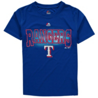Texas Rangers Majestic Youth Light Up the Field Tee