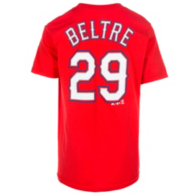 Texas Rangers Majestic Youth Adrian Beltre Name and Number Tee