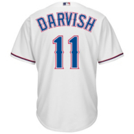 Texas Rangers Majestic Youth Yu Darvish Home Rep Jersey