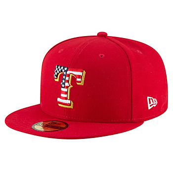 Texas Rangers New Era Stars & Stripes 4th of July 59Fifty Cap