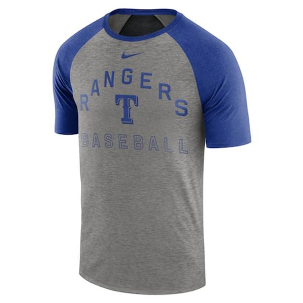 Texas Rangers Nike Slub Raglan T-Shirt