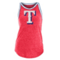 Texas Rangers 5th & Ocean Womens Tri-Blend Raw Edge Jersey Tank