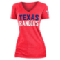 Texas Rangers 5th & Ocean Womens Tri-Blend V-Neck Jersey T-Shirt