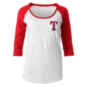 Texas Rangers 5th & Ocean Womens Baby Raglan Scoop Jersey T-Shirt