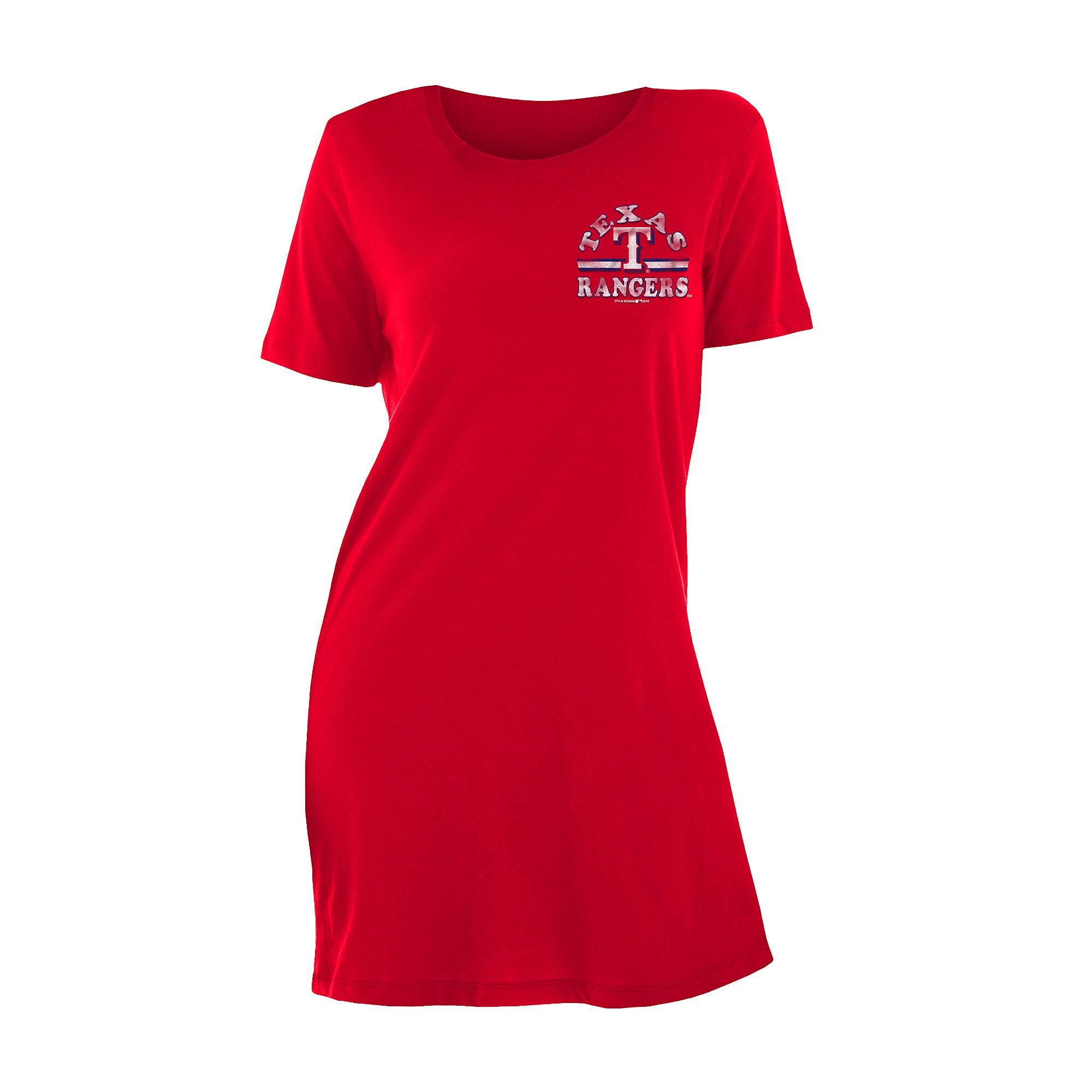 Texas Rangers 5th & Ocean Womens Baby Jersey T-Shirt Dress