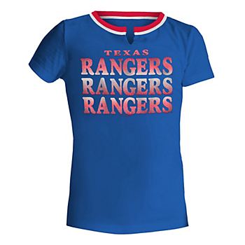 Texas Rangers 5th & Ocean Girls Baby Split Scoop Jersey T-Shirt